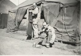 Herb in front of his barracks. Probably China.