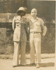 Herb is the one not wearing the pith helmet, probably in Ceylon.
