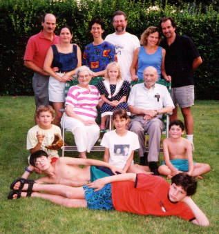 The Last Picture. At a loud and joyous backyard picnic three days before surgery. Levittown, August 26, 2000