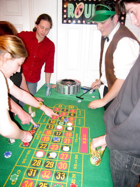 Darryl Hornick-Becker was croupier at the roulette wheel.