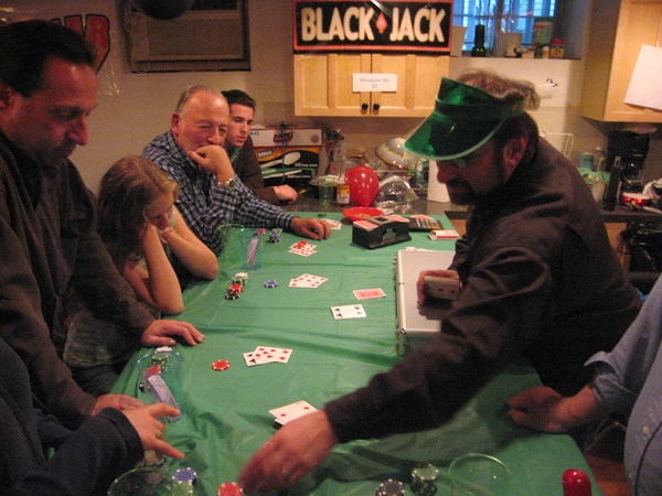 Larry Becker ran the blackjack game